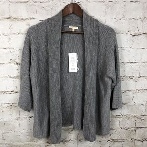 New Eileen Fisher Clean Chainelle Cotton Cardigan